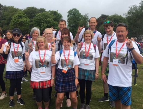 Keirans quines and loons at Aberdeen Kilt Walk